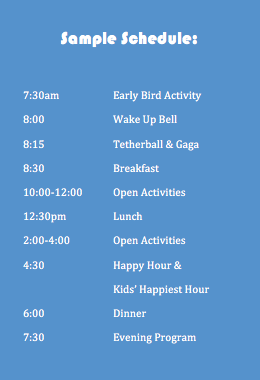 Family Camp Schedule